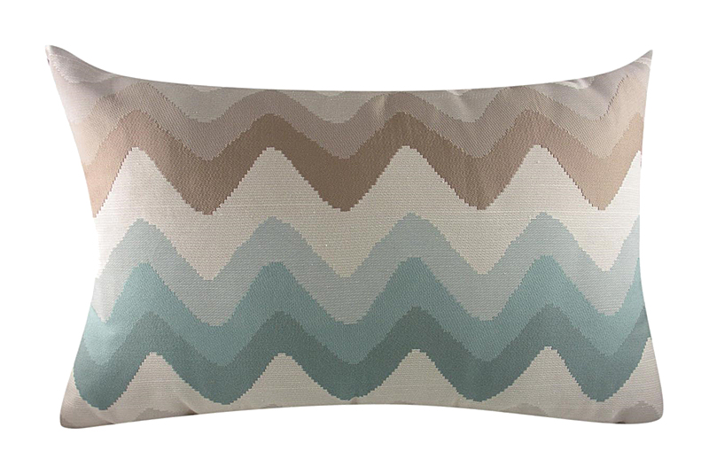 Купить Подушка с цветными волнами Bolsena Azure в интернет магазине дизайнерской мебели и аксессуаров для дома и дачи