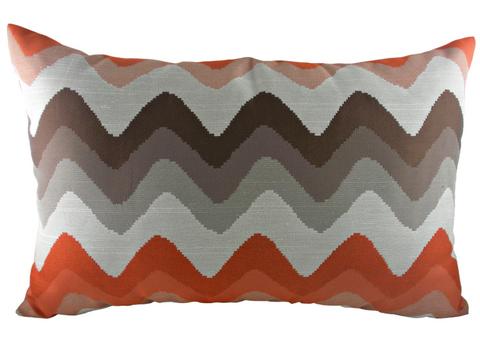 Подушка с цветными волнами Orange Chevron