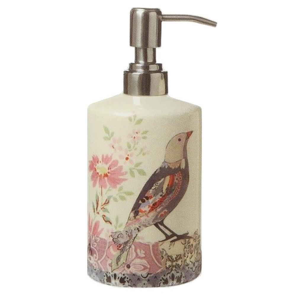 Дозатор для жидкого мыла NatureАксессуары для ванной<br>Дозатор для жидкого мыла Nature создан специально <br>для тех, кто хочет наполнить теплом, уютом <br>и шармом каждую комнату своего дома. Очаровательный <br>рисунок в виде птицы и цветов непременно <br>украсит ванную комнату, оживит её и сделает <br>еще привлекательнее. Удобный носик позволит <br>выдавить оптимальное количество мыла и <br>не разбрызгать его. Пастельные оттенки, <br>использованные при создании аксессуара, <br>дают ему возможность удачно вписаться в <br>общий интерьер. Объем 0,6 л<br><br>Цвет: Бежевый<br>Материал: Доломит<br>Вес кг: 0,3<br>Длина см: 8<br>Ширина см: 8<br>Высота см: 19