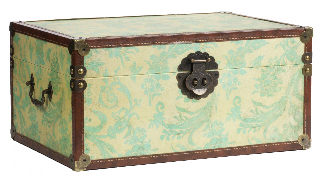 Купить Декоративный сундук Provence Mint в интернет магазине дизайнерской мебели и аксессуаров для дома и дачи