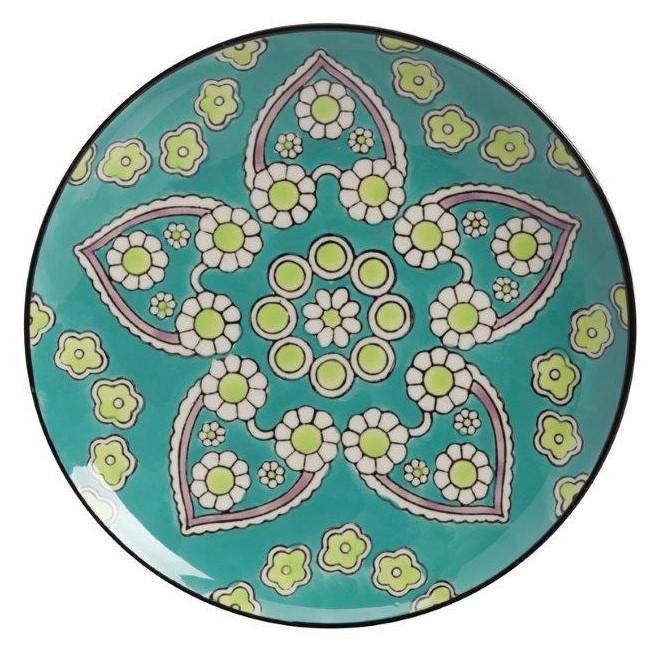 Мини-блюдо, раскрашенное вручную Сhiella, Тарелки и комплекты тарелок<br>Раскрашенное вручную мини-блюдо Сhiella придется <br>по вкусу любому, кто ценит роскошь в каждой <br>детали интерьера. Грубая керамика с оригинальными <br>рисунками преимущественно голубого цвета <br>дает превосходное сочетание простоты и <br>изысканности. Положите в мини-блюдо фрукты <br>и сладости и оно будет украшать собой любую <br>комнату в стиле Прованс, а сервировка стола <br>с такой посудой придаст особое очарование <br>вашей трапезе.<br><br>Цвет: None<br>Материал: None<br>Вес кг: 0.5