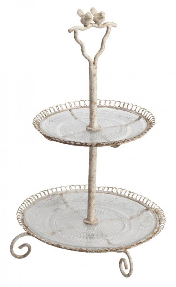 Подставка для сладостей MuffinСервировка стола<br>Подставка для кондитерских изделий Muffin <br>может стать главным атрибутом чаепития <br>и любимым предметом ваших малышей, если <br>разложить в него конфеты, пирожные и прочие <br>сладости. Изящная ковка по нержавеющей <br>стали и стеклянные поддоны придают аксессуару <br>деревенскую простоту и французское очарование <br>одновременно, свойственные для оформления <br>дома в стиле Прованс.<br><br>Цвет: Прозрачный<br>Материал: Стекло, Металл<br>Вес кг: 2,8<br>Длина см: 35<br>Ширина см: 35<br>Высота см: 54