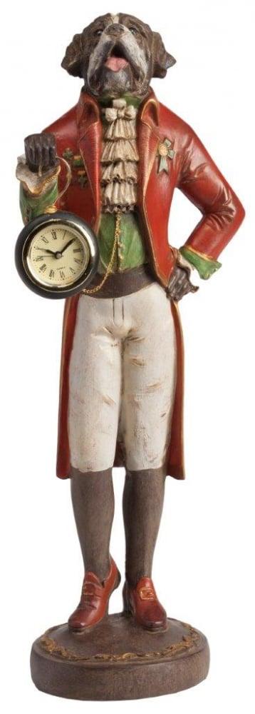 Предмет декора статуэтка собака с часами • St. Bernard