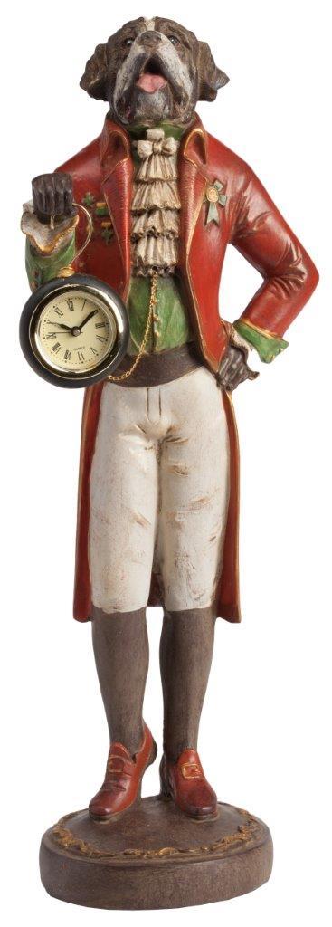 Предмет декора статуэтка собака с часами St. Bernard | Статуэтки