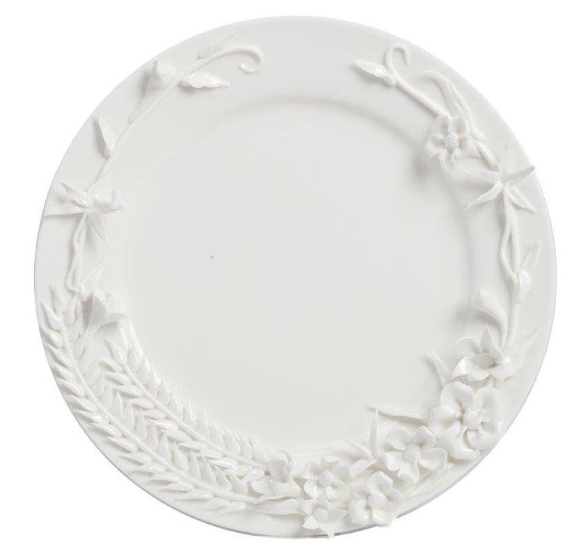 Блюдо MatrimonioБлюда<br>Выполненное из грубой керамики белоснежное <br>овальное блюдо Matrimonio диаметром 27 см, декорированное <br>объемными растительными узорами, придающими <br>изделию особую неповторимость и оригинальность. <br>Благодаря этому блюдо несёт в себе как унитарную, <br>так и эстетическую нагрузку. Может вписаться <br>в любой стиль интерьера.<br><br>Цвет: Белый<br>Материал: Грубая керамика<br>Вес кг: 0,6<br>Длина см: 27<br>Ширина см: 27<br>Высота см: 1,4