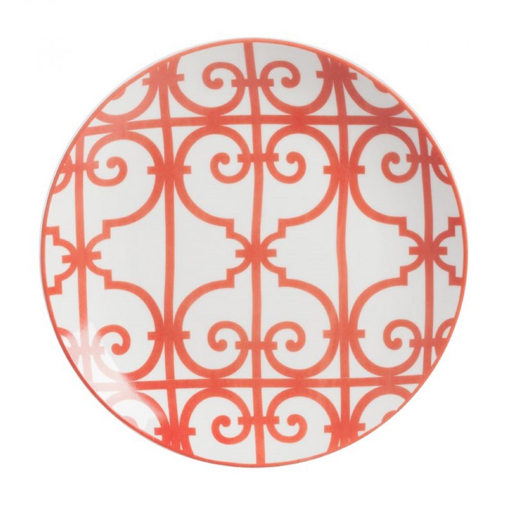 Тарелка SkarlettiТарелки<br>Выполненная из грубой керамики тарелка <br>Skarletti диаметром 19 см расписана оригинальным <br>красным орнаментом в сочетании геометрического <br>рисунка и завитка на белом фоне, благодаря <br>этому изделие будет гармонично смотреться <br>на праздничном столе. Тарелку можно приобрести <br>отдельно или в дополнение к другим предметам <br>коллекции.<br><br>Цвет: Красный, белый<br>Материал: Костяной фарфор<br>Вес кг: 0,2<br>Длина см: 19<br>Ширина см: 19<br>Высота см: 1,3