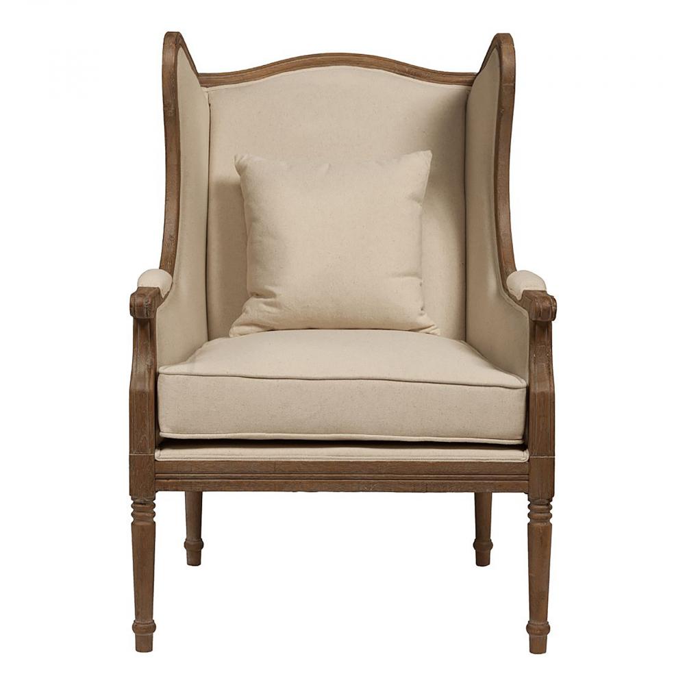 Кресло Cameron Armchair Белый ЛенКресла<br>Уютное кресло Cameron Armchair, в котором можно, <br>благодаря выступающим высоким бортикам <br>и подлокотникам, комфортно расположиться, <br>предаваясь отдыху. Оно великолепно сочетается <br>с винтажной обстановкой, но может стать <br>и отдельным предметом интерьера, где властвуют <br>светлые тона и дерево. Столь изумительный <br>предмет мебели отличается неповторимостью, <br>притягивая взгляд четкостью линий и строгостью <br>силуэта. Резьба по деревянному каркасу <br>из дуба изящно завершает образ, создавая <br>индивидуальный стиль, что невозможно не <br>заметить, даже если дизайнерское кресло <br>Cameron Armchair разместить среди аристократических <br>предметов.<br><br>Цвет: Белый<br>Материал: Ткань, Поролон, Дерево<br>Вес кг: 15<br>Длина см: 75<br>Ширина см: 62<br>Высота см: 123