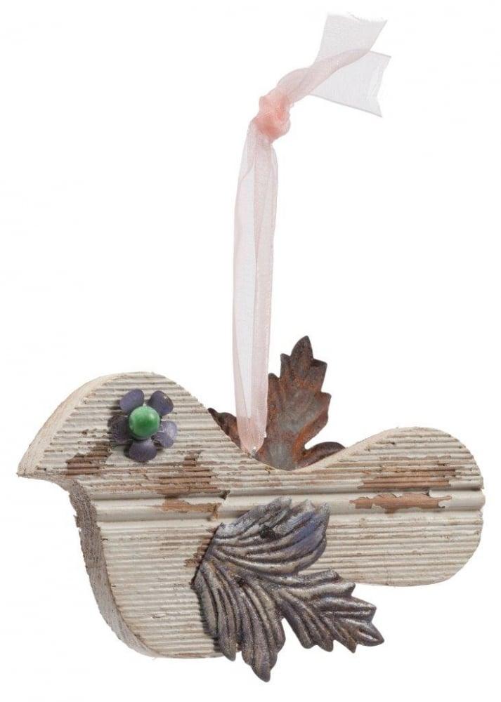 Фото Элемент декора подвесной птичка Blanche. Купить с доставкой