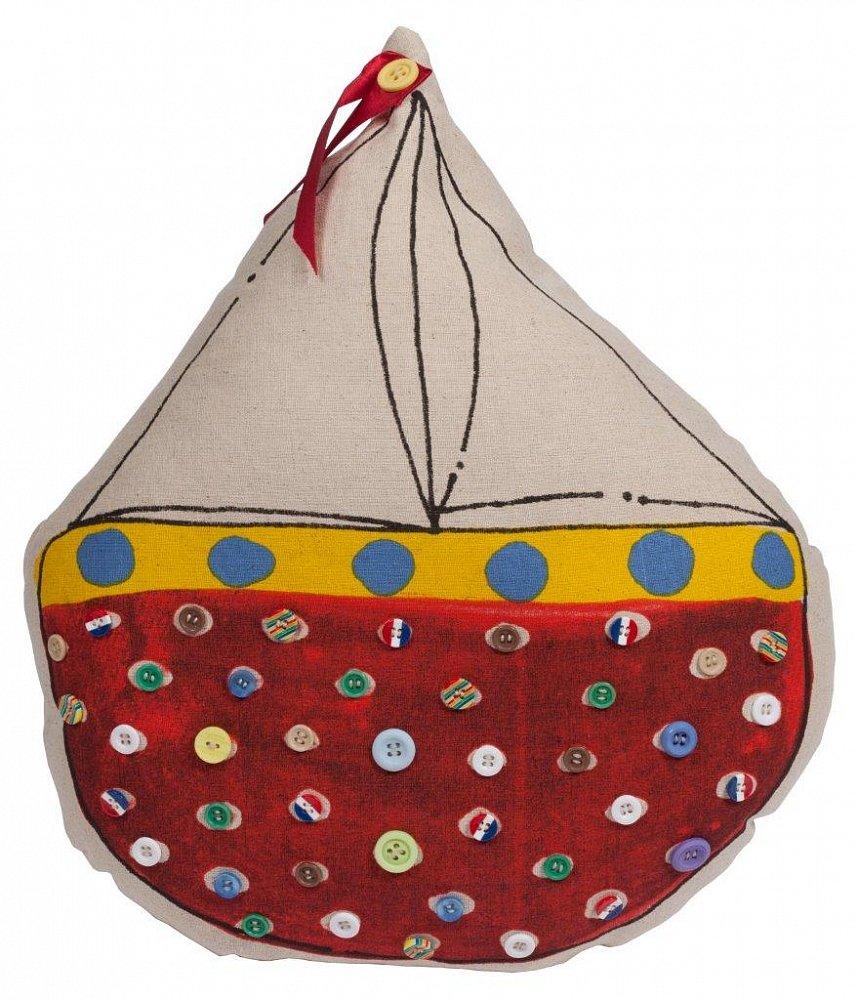 Фото Декоративная подушка с парусником Sailboat. Купить с доставкой