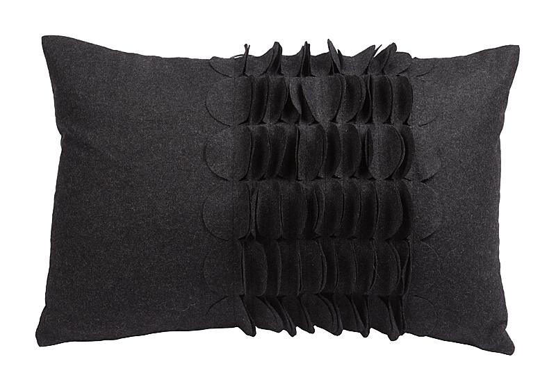 Подушка с объемным узором Giselle Dark Gray, DG-D-399
