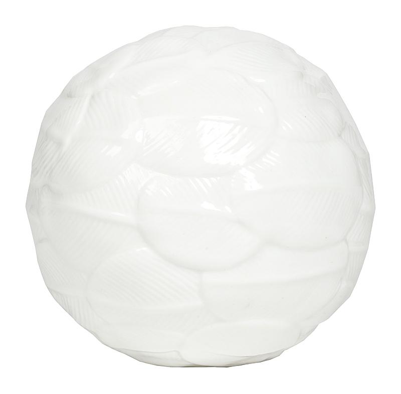 Купить Декоративный шар White Small в интернет магазине дизайнерской мебели и аксессуаров для дома и дачи