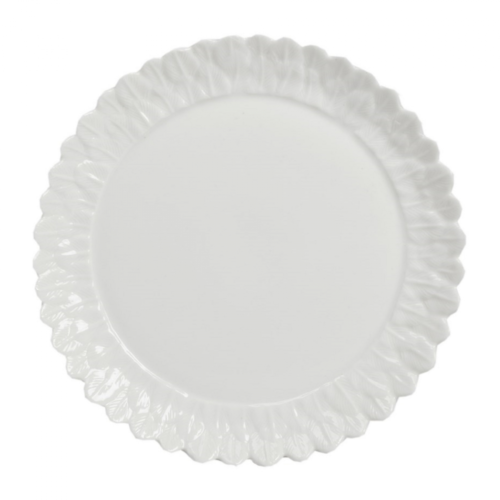 Тарелка FenicioТарелки<br>Тарелка белого цвета Fen?cio изготовлена <br>из керамики с нанесением по краю рельефного <br>рисунка. Тарелку можно приобрести отдельно <br>или в комплекте с другими предметами из <br>коллекции Fenicio.<br><br>Цвет: Белый<br>Материал: Грубая керамика<br>Вес кг: 0,3<br>Длина см: 20<br>Ширина см: 20<br>Высота см: 1