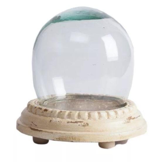 Декоративная ваза Valencia DG-HOME Декоративная ваза Valencia — изысканный аксессуар  для дома, способный украсить собой как модный  интерьер в стиле Прованс, так и любой другой  современный дизайн комнаты. Бежевая деревянная  подставка и стеклянный колпак — это удачное  сочетание материалов, которое дает гарантию  не только долговременного использования  предмета декора, но и его абсолютную безопасность.