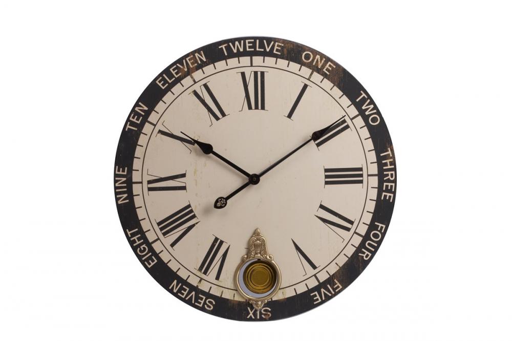Настенные часы с маятником Charles DerrievЧасы<br>Настенные часы с маятником Charles Derriev украсят <br>любую комнату в вашем доме, будь то гостиная, <br>спальня или кухня, добавят ей уюта и тепла, <br>а также станут превосходным предметом декора <br>стен. Приятный мягкий цвет циферблата удачно <br>подчеркнет спокойные оттенки стен, добавляя <br>им некую изюминку. Часы особенно гармонично <br>будут смотреться в интерьере, оформленном <br>в стиле Прованс.<br><br>Цвет: Бежевый<br>Материал: Дерево<br>Вес кг: 1,7<br>Длина см: 59<br>Ширина см: 59<br>Высота см: 5