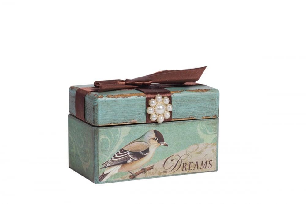 Декоративная коробка с бархатной лентой Tiffany, DG-D-822A
