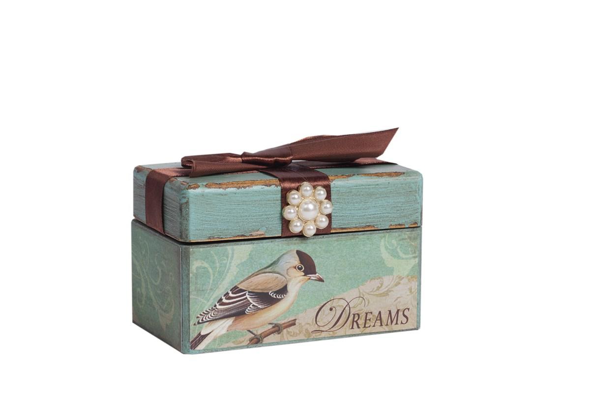 Купить Декоративная коробка с бархатной лентой Tiffany в интернет магазине дизайнерской мебели и аксессуаров для дома и дачи