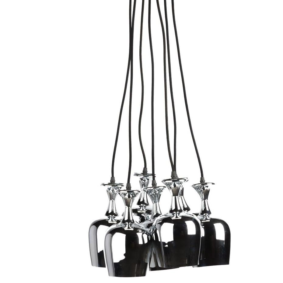 Подвесной светильник GlassesПодвесные светильники<br>Современный, модный и стильный подвесной <br>светильник Glasses — это мощное оружие в создании <br>вашего неповторимого интерьера. Оригинальная <br>форма и оптимальное количество плафонов <br>даст мягкий свет в любой комнате вашего <br>дома: он не будет резать глаза и ослеплять. <br>Аксессуар изготовлен из нержавеющей стали, <br>это дает гарантию долговременного использования <br>и легкости при уходе за ним. Предназначена <br>для использования со светодиодными лампами<br><br>Цвет: Серебро<br>Материал: Металл<br>Вес кг: 2,4<br>Длина см: 40<br>Ширина см: 40<br>Высота см: 117