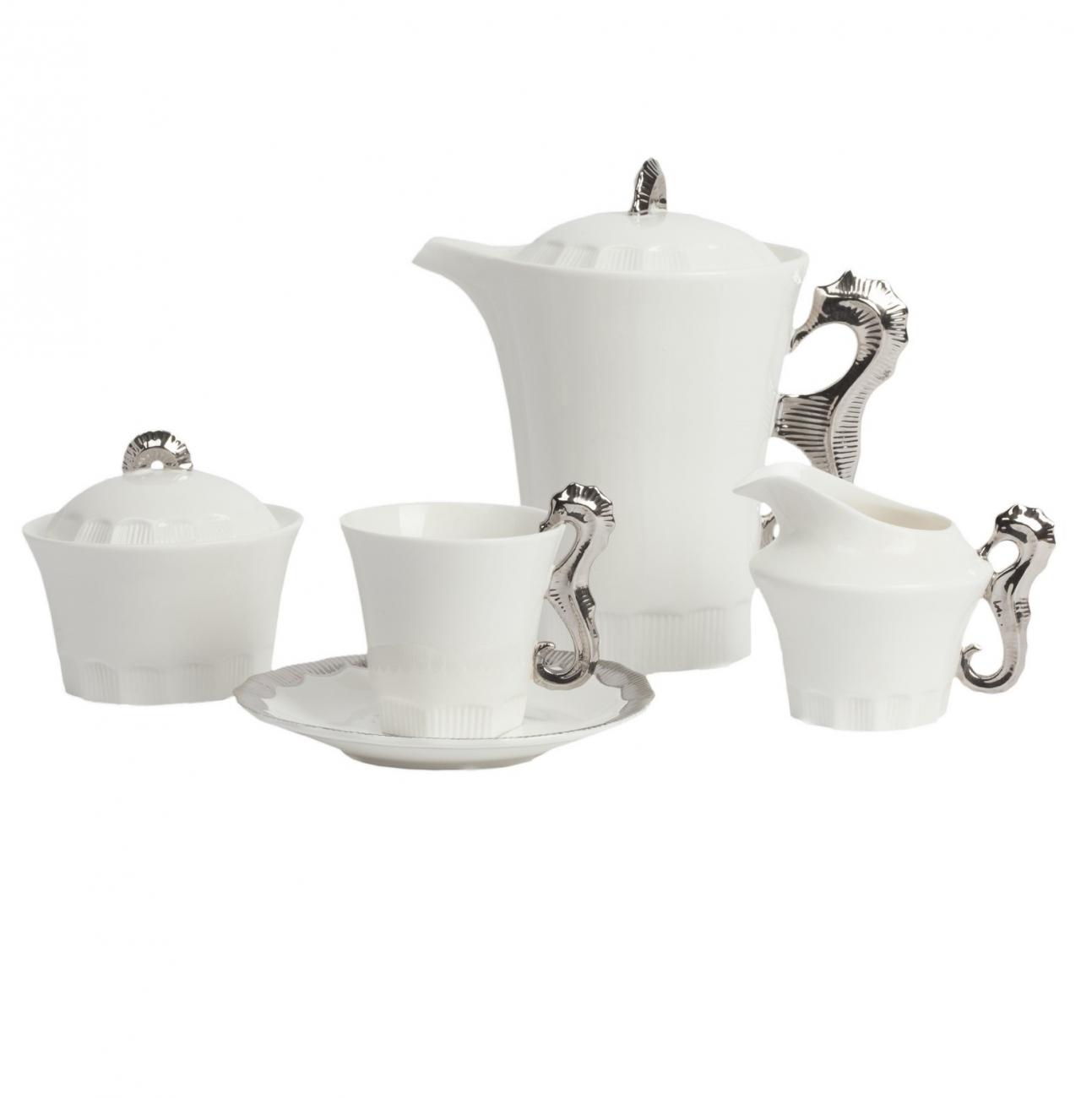 Купить Чайный сервиз Marine Hoss Silver в интернет магазине дизайнерской мебели и аксессуаров для дома и дачи