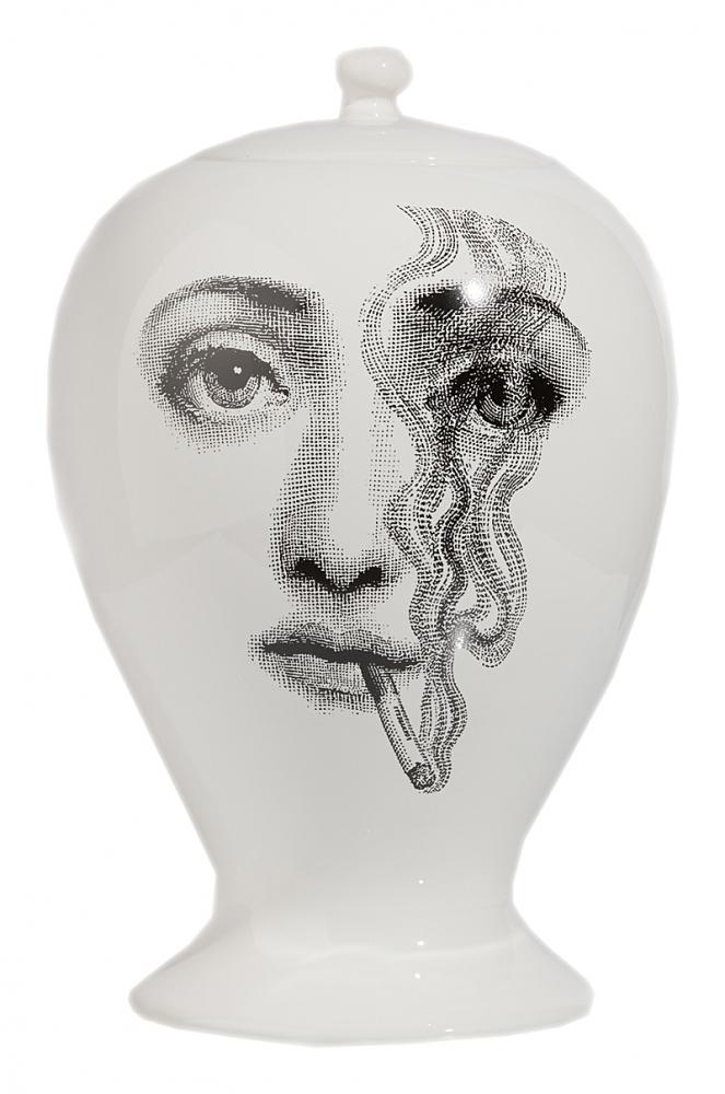 Декоративная ваза с крышкой Пьеро Форназетти • Fumo La Male Маленькая