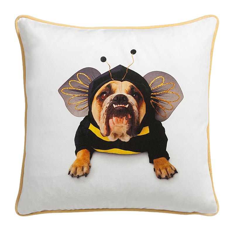 Купить Смешная подушка собака-пчела Bee Doggie в интернет магазине дизайнерской мебели и аксессуаров для дома и дачи