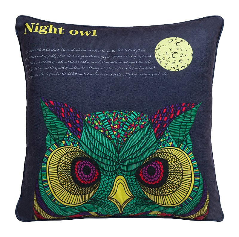 Купить Подушка с совой Sombreado в интернет магазине дизайнерской мебели и аксессуаров для дома и дачи