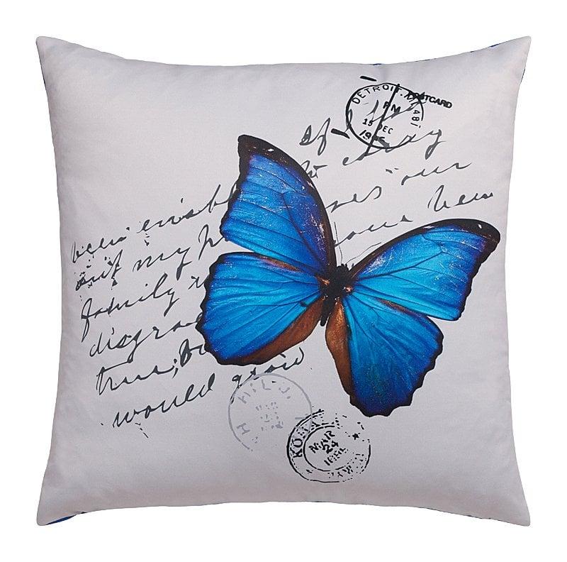 Фото Подушка с синей бабочкой Pacchetto. Купить с доставкой