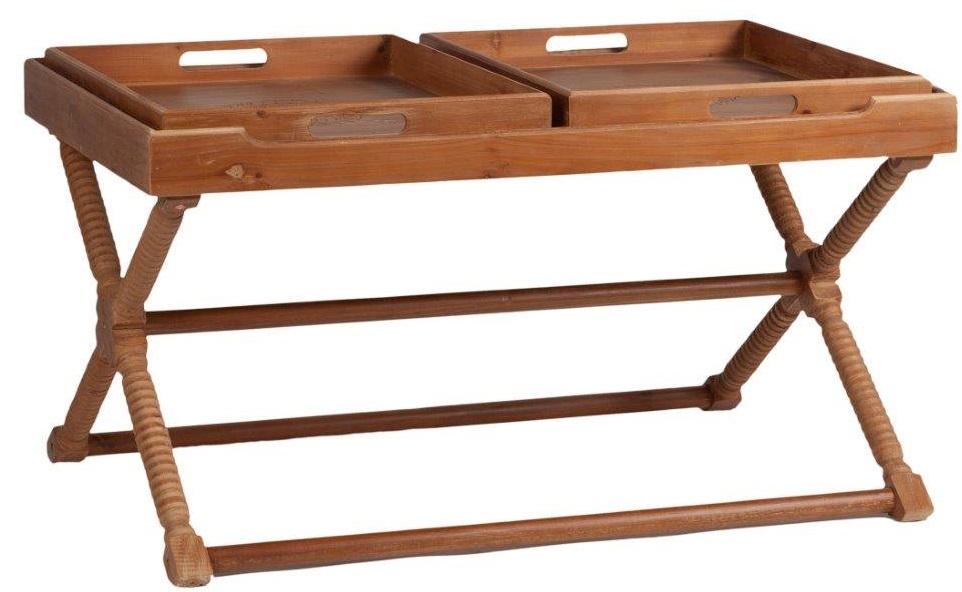 Стол сервировочный Torus DG-HOME Интересный по конструкции и дизайну сервировочный  стол Torus станет настоящим помощником во  время вашей трапезы. Уникальность его заключается  в съемных подносах, который можно переносить  с собой в любую комнату, где вы пожелаете  устроить прием пищи. Если их убрать, остается  просторная столешница. Стол выполнен в  провинциальном стиле Шебби шик из натурального  дерева (ели), поэтому способен придать вашему  дому изысканность, очарование и уют.