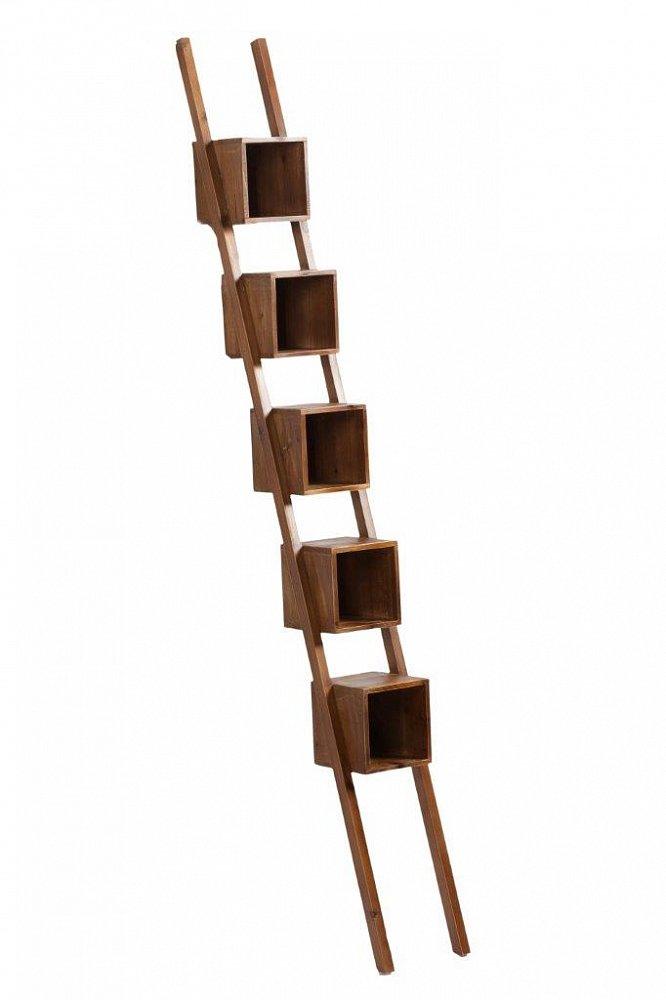 Декоративный стеллаж BagatelleШкафы и стеллажи<br>Удивительный и уникальный декоративный <br>стеллаж Bagatelle, выполненный из натурального <br>дерева (ели) в виде лестницы с полочками, <br>станет прекрасным и оригинальный украшением <br>помещения. Помимо эстетической стороны, <br>предмет мебели очень практичный: внутри <br>можно хранить всевозможные вещи, книги, <br>предметы декора, сверху удачно будут смотреться <br>цветочные горшки. Если вы хотите придать <br>вашему дому роскошный и изысканный вид, <br>стеллаж Bagatelle — то, что вам нужно.<br><br>Цвет: Коричневый<br>Материал: Дерево<br>Вес кг: 14<br>Длина см: 19,5<br>Ширина см: 19<br>Высота см: 169