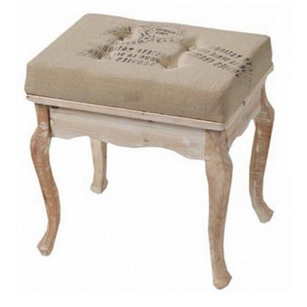 Табурет NarcissusТабуреты<br>Роскошный табурет Narcissus, словно привезенный <br>прямиком из аристократической Франции, <br>украсит собой любую комнату вашего дома. <br>Изысканные резные ножки, изготовленные <br>из натурального дерева (ели), мягкое поролоновое <br>сиденье, благородный светлый цвет, неброские <br>надписи на обивке, потертости по всей поверхности <br>— всё это безусловные признаки стиля Прованс. <br>Приобретая такой табурет, вы можете быть <br>уверены, что он привнесет уют, тепло и изысканность <br>в помещение.<br><br>Цвет: Бежевый<br>Материал: Дерево, МДФ, Поролон, Джут<br>Вес кг: 4<br>Длина см: 48<br>Ширина см: 36<br>Высота см: 50