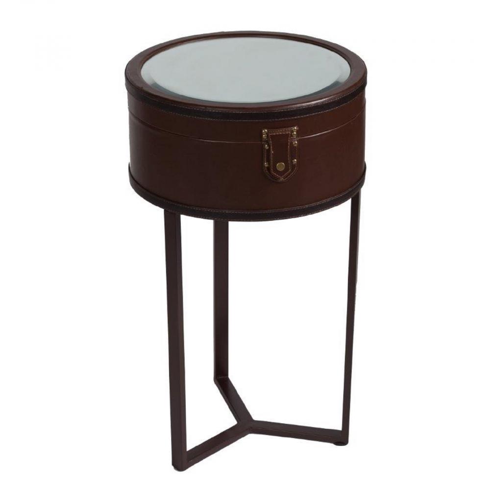 Придиванный круглый столик с зеркалом Lucero Grande