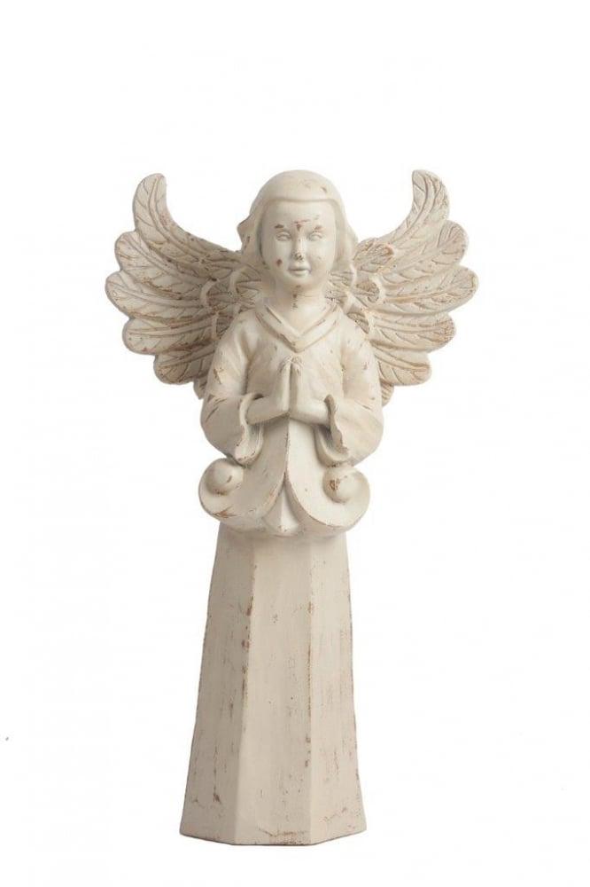 Предмет декора статуэтка Angel DG-HOME Элемент декора Angel — это великолепное украшение  любой комнаты вашего дома, оформленной  в стиле «Шебби-шик». Она изготовлена из  полирезина и имеет благородный бежевый  цвет, что придаёт ей некую провинциальность  и простоту. Однако аккуратно вылепленные  мелкие детали ангела говорят о тонкой работе  мастера и неповторимости аксессуара. Фигурка  будет изящно смотреться как на каминной  или обычной полке, так и на тумбе или прикроватном  столике.