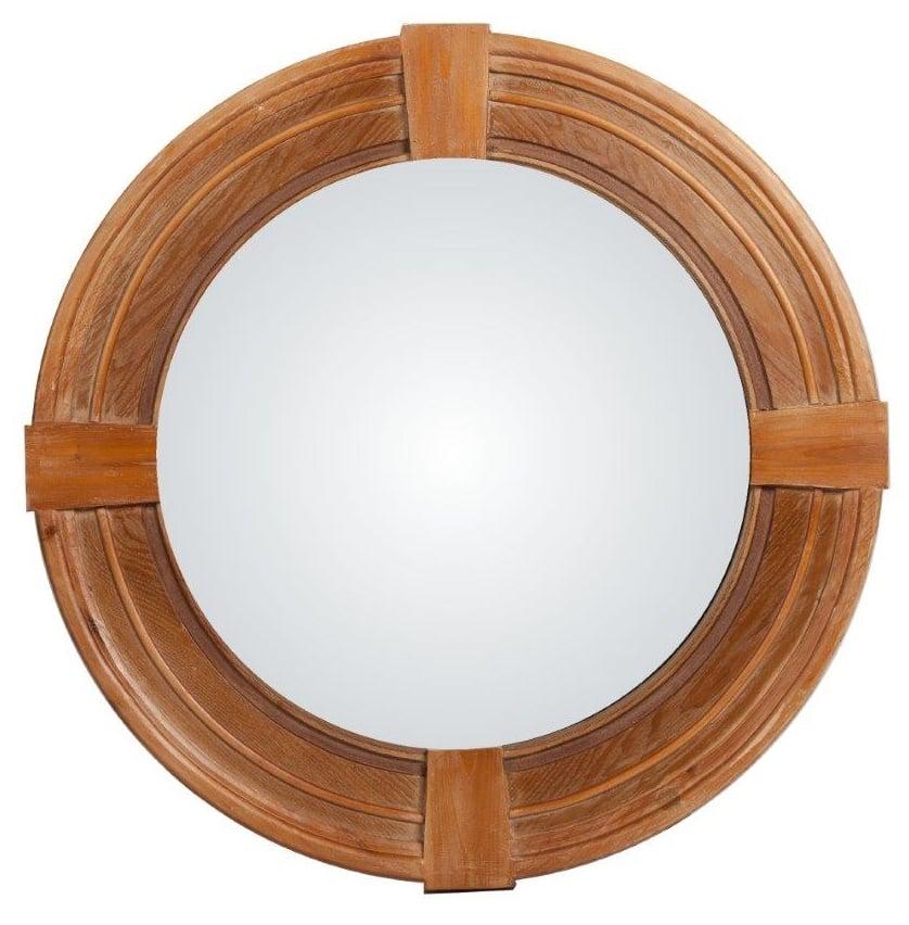 Зеркало Tamonia DG-HOME Зеркало Tamonia — яркий представитель современного  стиля «шебби шик»: массивная рама, искусственная  состаренность, приятный и теплый светло-коричневый  цвет, позволяющий гармонировать с общей  обстановкой комнаты, простая круглая форма  предмета мебели. Такое зеркало способно  привнести в дом очарование провинции юга  Франции, но при этом наполнить помещение  изысканностью и шармом.