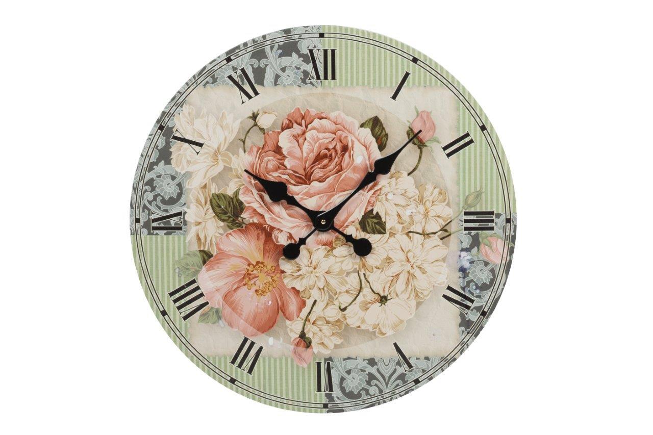Настенные часы MerkyttiЧасы<br>Настенные часы Merkytti — роскошный, но в то <br>же время изысканный элемент декора помещения, <br>оформленного в модном кантри-стиле. Изготовленные <br>из прочного картона и оснащенные качественным <br>часовым механизмом они прослужат вам долгие <br>годы. Оригинальные растительные мотивы <br>— изумительные цветы — на нежном фоне не <br>оставят равнодушным ни одного ценителя <br>красивых вещей. Украсьте свой дом со вкусом!<br><br>Цвет: Голубой, Зелёный, Розовый<br>Материал: Картон, Часовой механизм<br>Вес кг: 1,5<br>Длина см: 60<br>Ширина см: 60<br>Высота см: 2