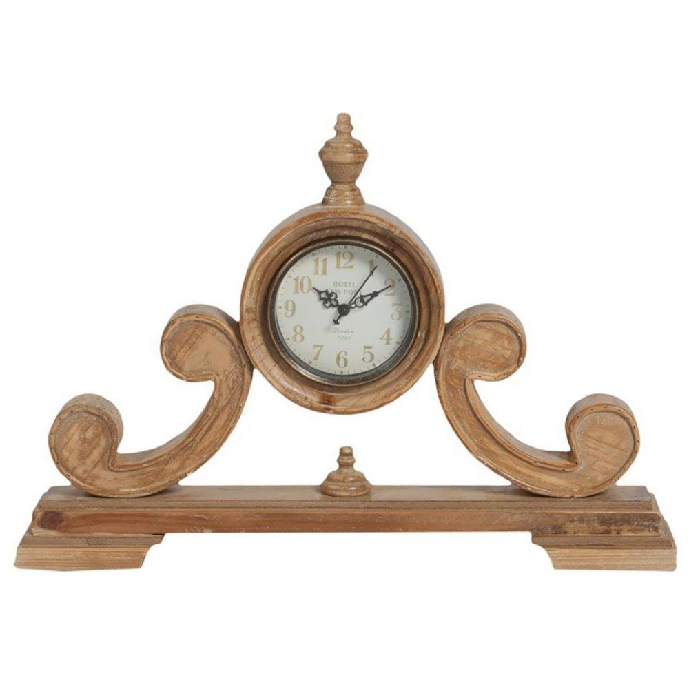 Настольные часы AberturaЧасы<br>Настольные часы Abertura — бесконечно симпатичный <br>элемент декора помещения, оформленного <br>в стиле Прованс. Искусственные потертости <br>и трещинки по всей поверхности деревянного <br>основания придают ему особую изысканность <br>и неповторимость. Оригинальное дизайнерское <br>решение и высококачественное исполнение <br>создают, в результате, долговечный и роскошный <br>аксессуар.<br><br>Цвет: Коричневый, Бежевый<br>Материал: Дерево, Стекло, Часовой механизм<br>Вес кг: 2<br>Длина см: 48,5<br>Ширина см: 9<br>Высота см: 34,5