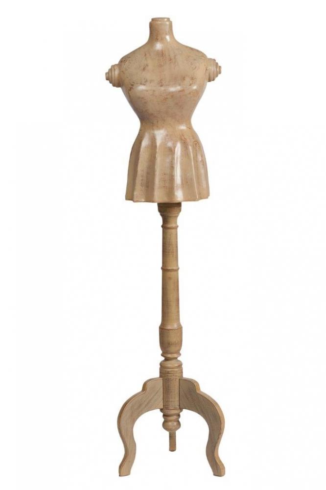 Репродукция манекена MadameШкатулки и подставки для украшений<br>Репродукция манекена Madame – утонченный <br>и изысканный элемент декора, который придется <br>по вкусу каждой моднице или любительнице <br>необычных вещей. Аксессуар в стиле Прованс <br>выглядит так, словно привезен прямиком <br>из маленького магазинчика юга Франции прошлого <br>столетия. Манекен может украсить любую <br>комнату вашего дома, а также послужить для <br>сохранения вечёрнего наряда в идеальном <br>состоянии.<br><br>Цвет: Бежевый<br>Материал: дерево, пластик<br>Вес кг: 6,5<br>Длина см: 38<br>Ширина см: 36<br>Высота см: 147