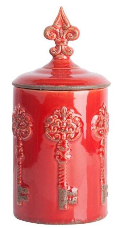 Емкость для хранения RossoКухонные принадлежности<br>Ёмкость для хранения Rosso — яркий представитель <br>стиля Прованс, благодаря чему удачно впишется <br>в интерьер в классическом стиле. Искусственные <br>потертости по керамической поверхности, <br>неброская оригинальная лепка и приятный <br>красный цвет придают аксессуару деревенское <br>очарование и в то же время некий аристократизм. <br>Банка идеально подойдёт для хранения сыпучих, <br>сладостей или мелких безделушек.<br><br>Цвет: Красный<br>Материал: Керамика<br>Вес кг: 1,3<br>Длина см: 14<br>Ширина см: 14<br>Высота см: 28