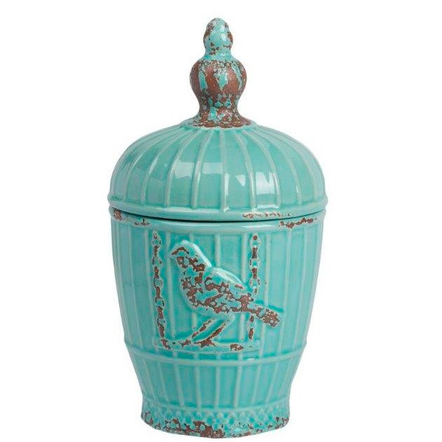 Декоративная ваза Lazuro DG-HOME Декоративная ваза Lazuro — бесконечно милый  элемент декора интерьера в стиле Прованс.  Приятный светло-зелёный цвет, необычная  форма, искусственные потертости, птицы  на боках аксессуара — все это придаёт ему  особый шарм и очаровании французской провинции.  С точки зрения практичности, ваза, несмотря  на размер, достаточно вместительная, и вы  можете хранить в ней любые мелкие предметы  или сладости.