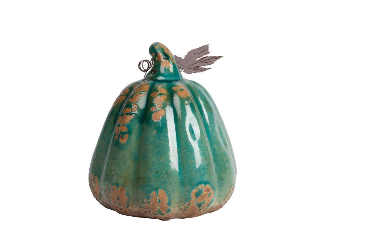 Купить Предмет декора статуэтка тыква Pumpkin Aqua в интернет магазине дизайнерской мебели и аксессуаров для дома и дачи