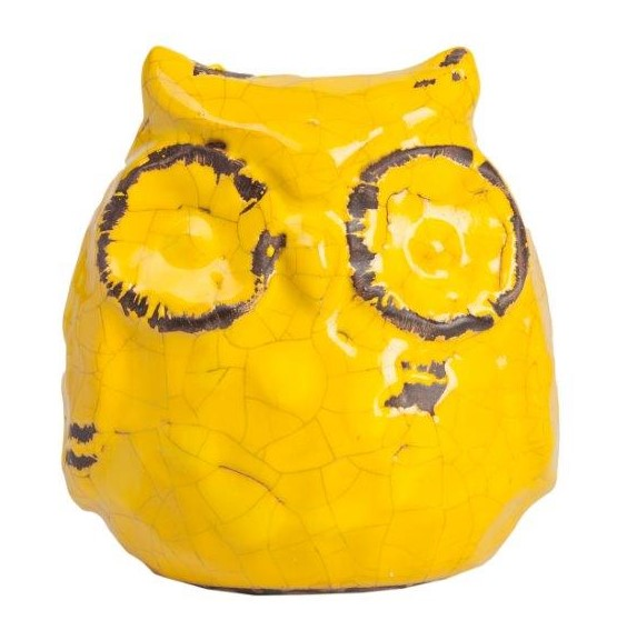 Предмет декора статуэтка сова JaunelloСтатуэтки<br>Элемент декора Jaunello в виде симпатичной <br>совы насыщенного жёлтого цвета — это оригинальный <br>аксессуар, который не просто украсит ваш <br>дом, оформленный в стиле Прованс, но и наполнит <br>его яркими красками и провинциальной простотой <br>одновременно. Благодаря небольшому размеру <br>вещица удачно поместится как на любой полочке, <br>так и на столике. Может быть использован <br>в комплекте с совами из той же коллекции.<br><br>Цвет: Жёлтый, Коричневый<br>Материал: Керамика<br>Вес кг: 0,8<br>Длина см: 14,5<br>Ширина см: 13<br>Высота см: 16