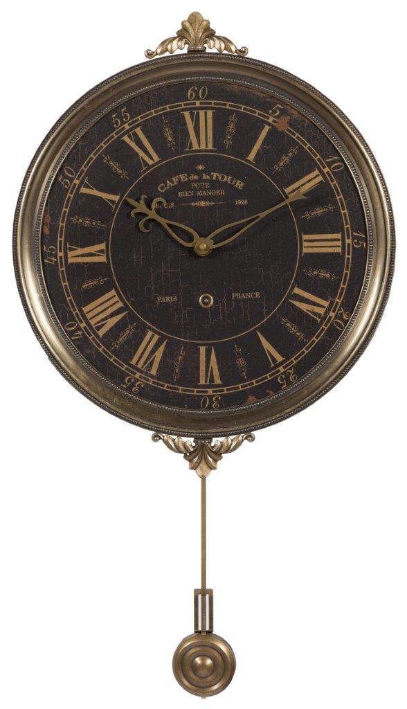 Купить Настенные часы с маятником Cafe De La Tour в интернет магазине дизайнерской мебели и аксессуаров для дома и дачи
