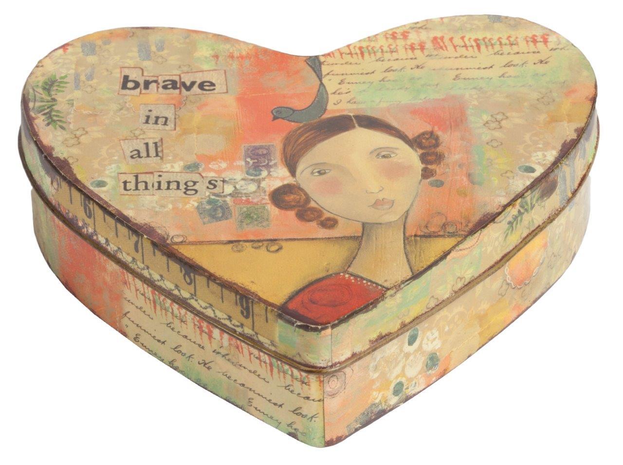 Купить Металлическая коробка (шкатулка) с девушкой Brave в интернет магазине дизайнерской мебели и аксессуаров для дома и дачи