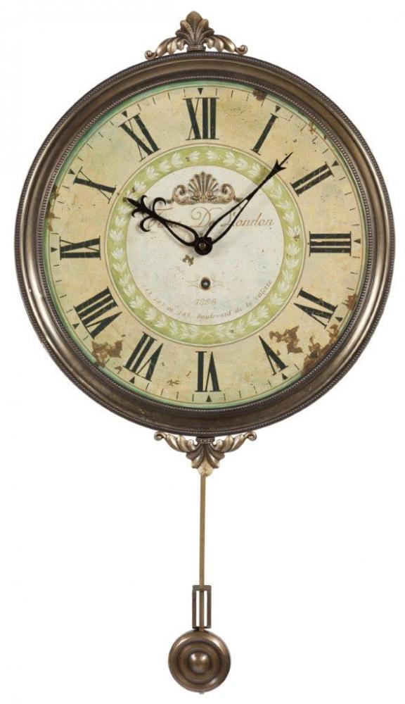 Настенные часы с маятником VoyageЧасы<br>Настенные часы с маятником Voyage придутся <br>по вкусу каждому человеку, ценящему уют <br>и комфорт. Они будут уместны в любой комнате <br>дома, оформленного в стиле Прованс, будь <br>то столовая, гостиная, спальня или прихожая. <br>Нежный фисташковый циферблат и более темное <br>металлическое обрамление будут гармонично <br>сочетаться с общим интерьером, привнося <br>в него французский шик и деревенское очарование, <br>свойственные этому стилю.<br><br>Цвет: Коричневый, Бежевый<br>Материал: МДФ + Металл<br>Вес кг: 1,2<br>Длина см: 32<br>Ширина см: 32<br>Высота см: 2,5