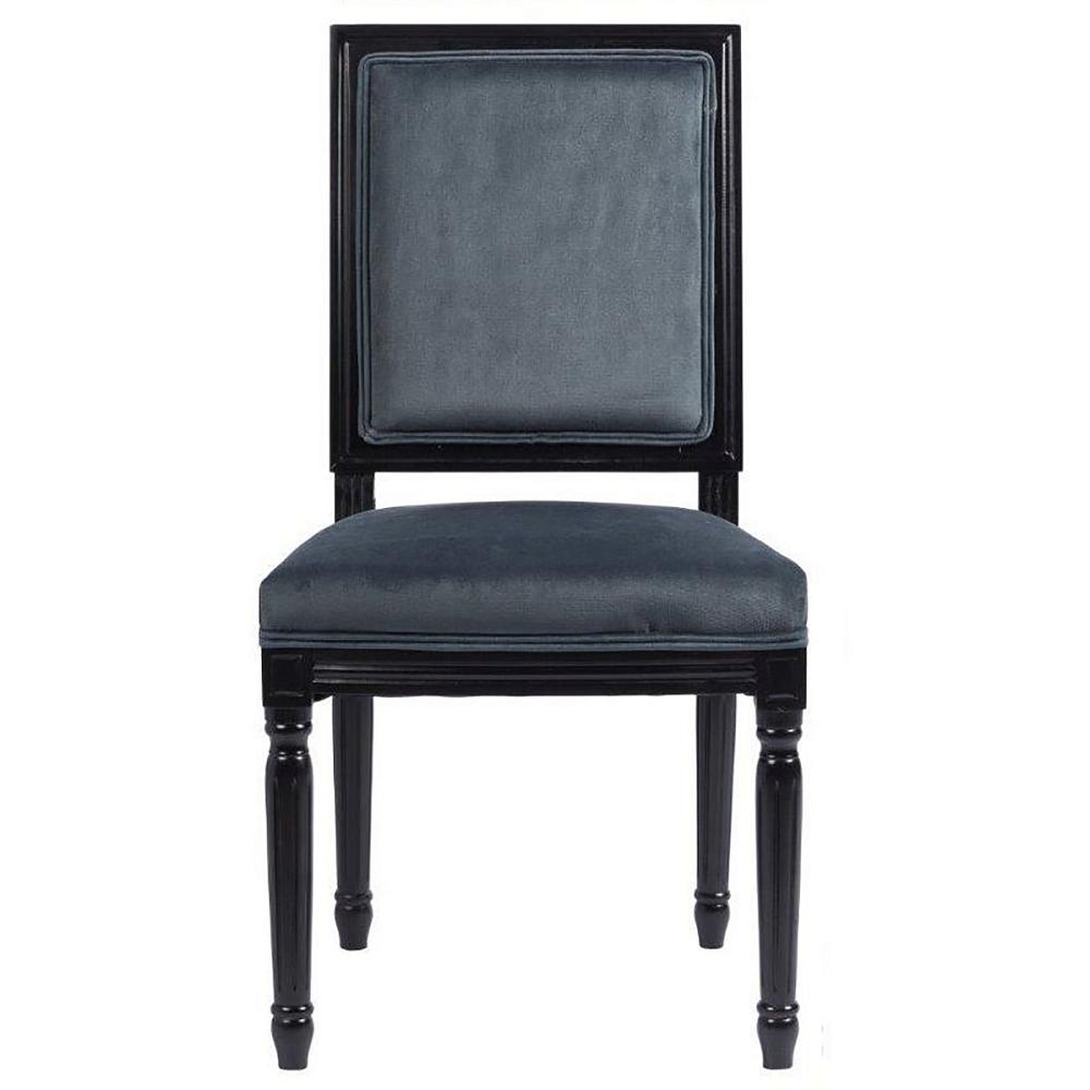 Стул Overture Grey DG-HOME Эксклюзивный стул, который отлично будет  смотреться как за обеденным, так и за письменным  столом. Он имеет мягкую спинку и сиденье,  а каркас и ножки этой модели сделаны из  дерева черного цвета. Спинка и сидение обиты  благородным вельветом графитово-серого  цвета. Стул имеет оригинальные ножки, украшенные  резьбой.