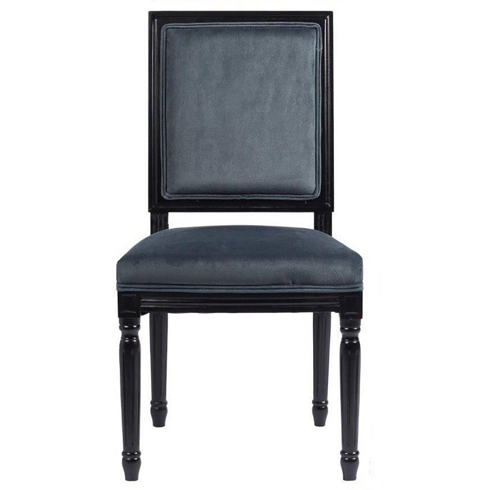 Стул Overture GreyСтулья<br>Эксклюзивный стул, который отлично будет <br>смотреться как за обеденным, так и за письменным <br>столом. Он имеет мягкую спинку и сиденье, <br>а каркас и ножки этой модели сделаны из <br>дерева черного цвета. Спинка и сидение обиты <br>благородным вельветом графитово-серого <br>цвета. Стул имеет оригинальные ножки, украшенные <br>резьбой.<br><br>Цвет: Угольный<br>Материал: вельвет, деревянное основание черное, поролон<br>Вес кг: 6<br>Длина см: 50<br>Ширина см: 55<br>Высота см: 96