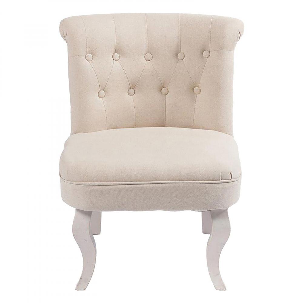Кресло Dawson Бежевый ЛенКресла<br>Кресло Dawson – неимоверно комфортное, удобное <br>и красивое – выглядит так, словно вам его <br>только что доставили из роскошного дома <br>аристократической Франции. Каркас из натурального <br>дерева, богатая обивка, благородная форма <br>самого предмета мебели, изящные ножки, нежный <br>цвет – все говорит о его изысканности и <br>шарме. Такой кресло непременно привнесет <br>в ваш дом не только очарование и лоск, но <br>и уют и тепло. Высота от пола до сидения <br>- 37 см.<br><br>Цвет: Бежевый<br>Материал: Ткань, Поролон, Дерево<br>Вес кг: 6,3<br>Длина см: 50<br>Ширина см: 50<br>Высота см: 73