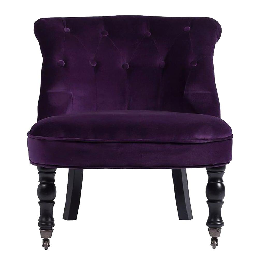 Кресло Ribbone Фиолетовый ВельветКресла<br>Если купленная мебель сочетает в себе удобство <br>и красоту, то это – лучшее приобретение. <br>Кресло Ribbone Emerald выполненное из натуральног <br>дерева в оригинальном дизайне, непременно <br>подарит вашему дому изысканность, аристократичность <br>и роскошный вид. Необычная форма сиденья <br>и спинки, благородный фиолетовый цвет вельветовой <br>обивки и качественное изготовление дают <br>в совокупности непревзойденный предмет <br>мебели, который украсит собой любую комнату <br>или зону отдыха. Высота ножек 35 см, общая <br>высота 70 см.<br><br>Цвет: фиолетовый<br>Материал: Ткань, Поролон, Дерево<br>Вес кг: 7,3<br>Длина см: 63<br>Ширина см: 66<br>Высота см: 69