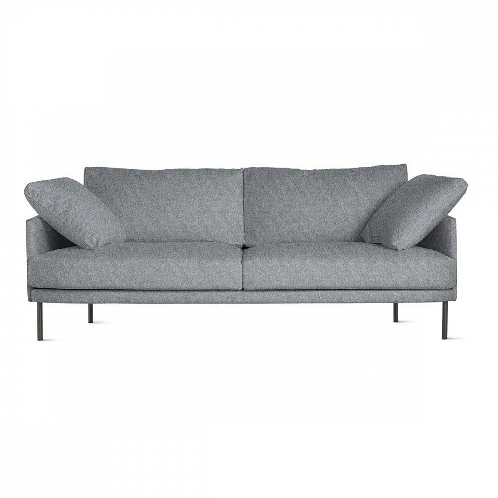 Диван Camber Sofa СерыйДиваны<br>Лаконичный и стильный диван Camber Sofa – это <br>элегантность и современность в каждой детали, <br>начиная от прочных ножек из нержавеющей <br>стали и заканчивая благородным цветом обивки <br>деревянного каркаса. Мягкий и удобный – <br>он непременно преобразит комнату, добавит <br>в нее некой живости и очарования. Благодаря <br>небольшим размерам такой предмет мебели <br>не сделает комнату загроможденной, а, наоборот, <br>визуально расширит пространство.<br><br>Цвет: Серый<br>Материал: Ткань, Поролон<br>Вес кг: 56<br>Длина см: 206<br>Ширина см: 93<br>Высота см: 81