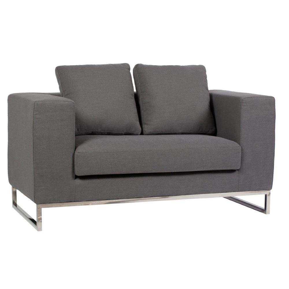 Диван Dadone СерыйДиваны<br>Небольшой уютный диван Dadone Sofa – это неимоверно <br>стильный и удобный предмет мебели, который <br>добавит шарма и тепла любой комнате вашего <br>дома. Благородный серый цвет обивки металлического <br>каркаса с ножками из нержавеющей стали <br>и дизайн позволяют диванчику украсить собой <br>современный или классический интерьер, <br>а мягкие подушки дают вам возможность расслабиться <br>с комфортом после трудного рабочего дня.<br><br>Цвет: Серый<br>Материал: Ткань, Поролон, Металл<br>Вес кг: 58<br>Длина см: 134<br>Ширина см: 70<br>Высота см: 68