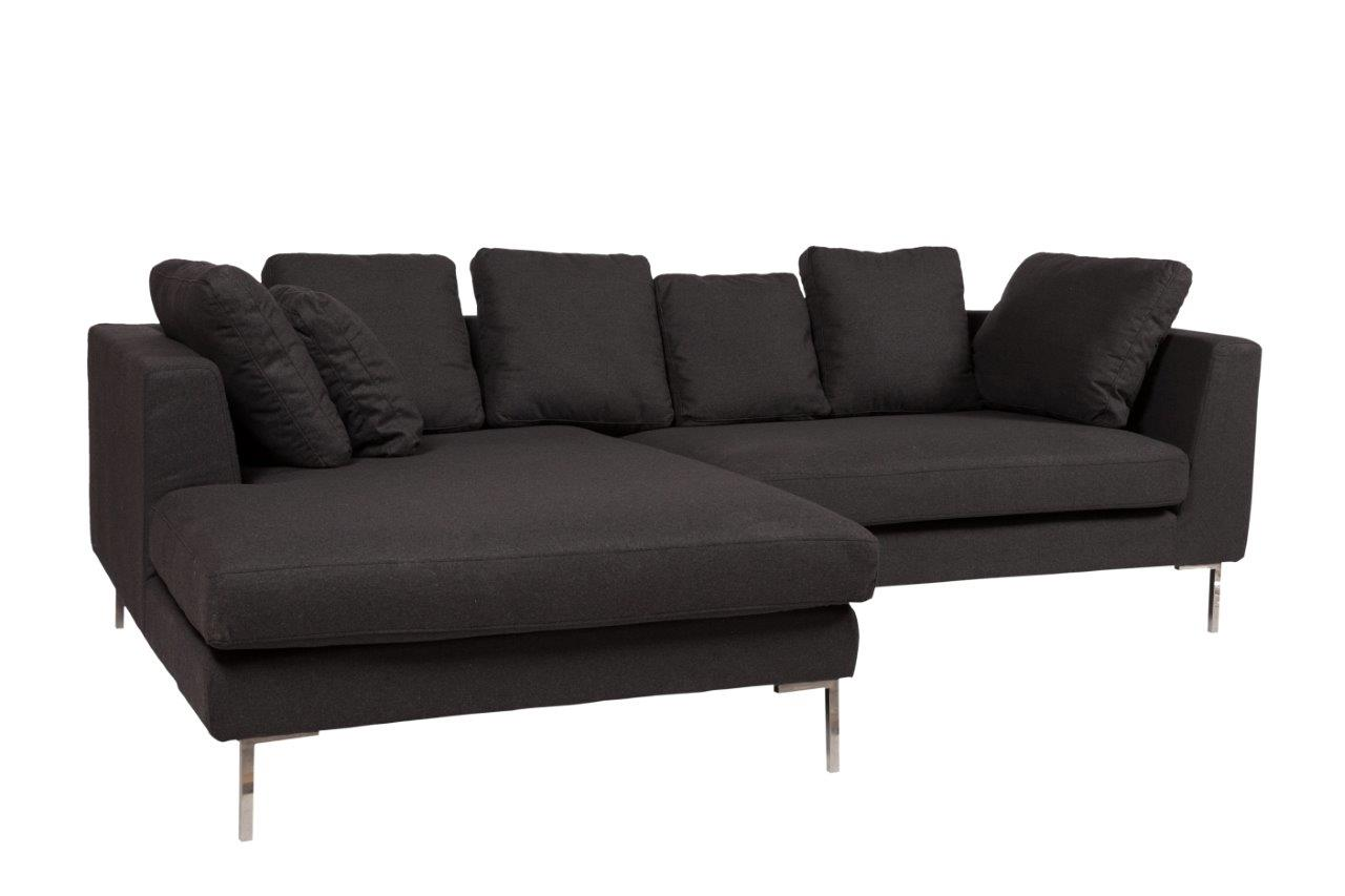 Диван Charles Sofa Sectional Left Dark Grey