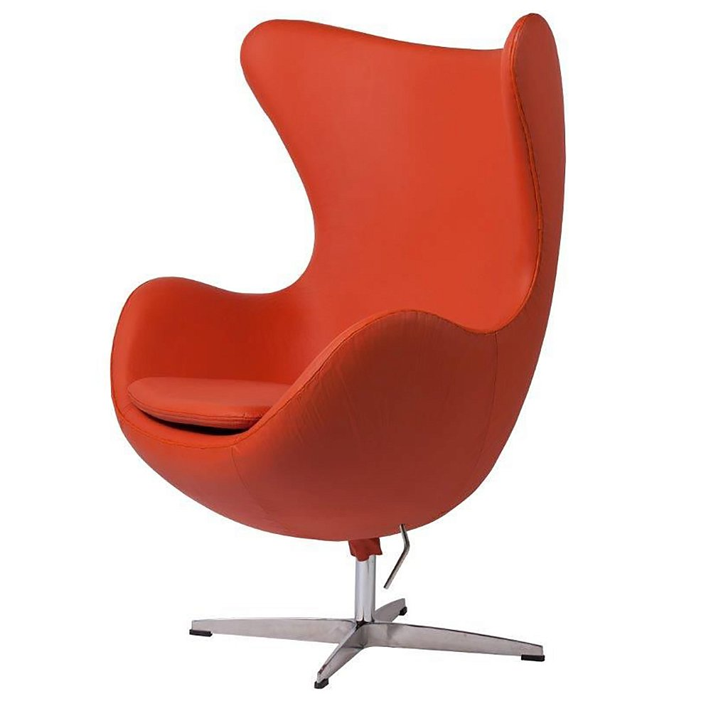 Фото Кресло Egg Chair Терракотовое Кожа Класса Премиум. Купить с доставкой
